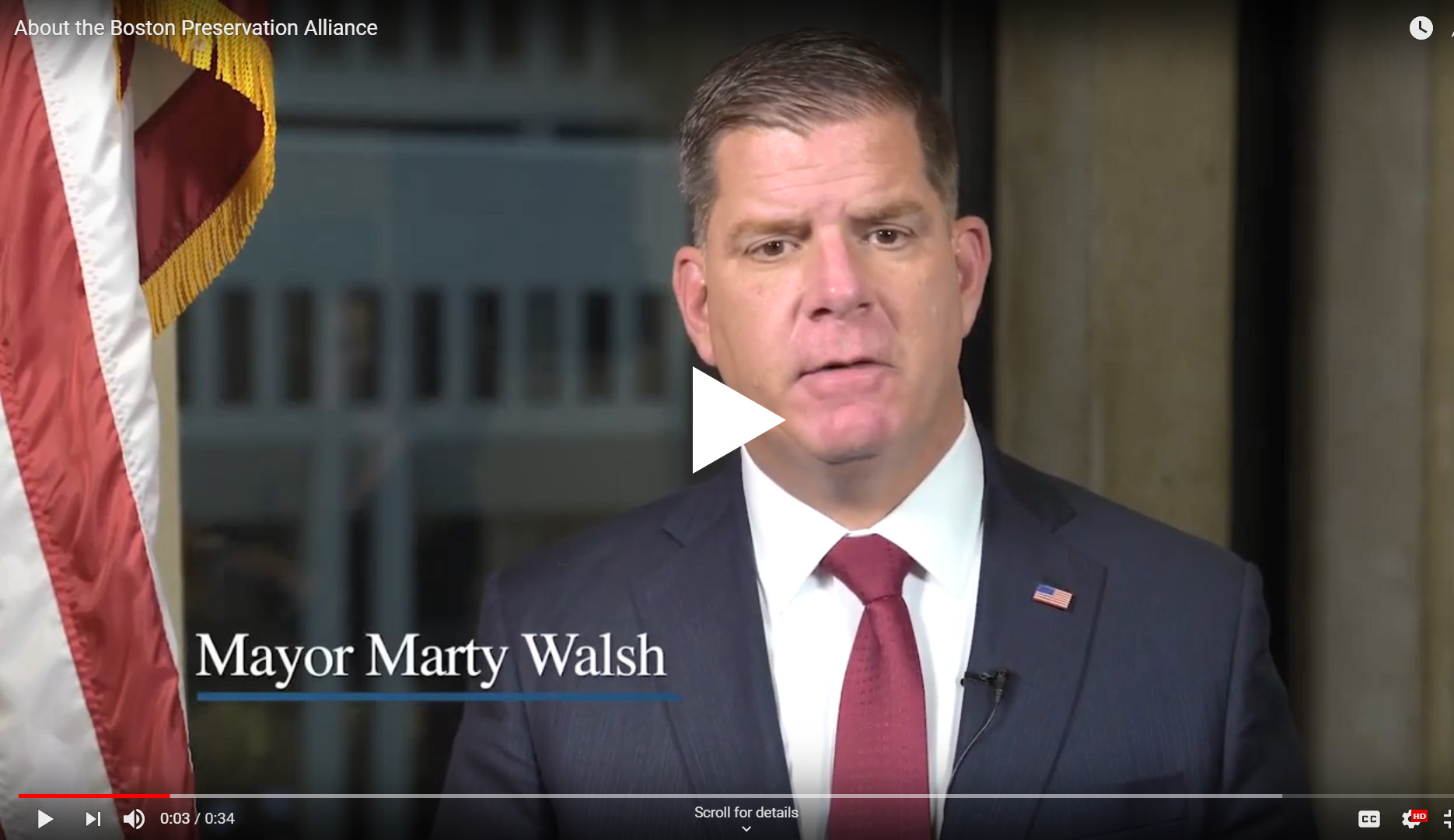 Mayor Walsh Talks Preservation